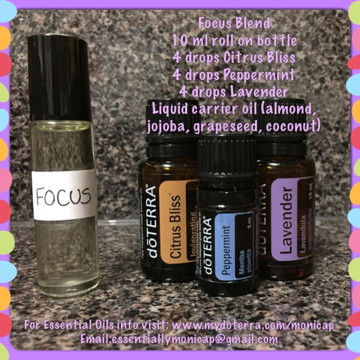 I love this blend for homeschooling or before I teach an oil's class. It enhances focus and supports healthy thought processes. Apply to forehead, temples, back of neck and/or reflex points as needed. This is different from InTune (doTERRA's proprietary focus blend)  For doTERRA oils, visit www.mydoterra.com/monicap  For questions, email me at essentiallymonicap@gmail.com