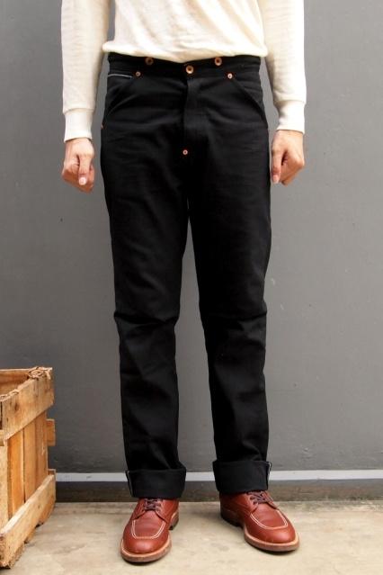 Oldblue Co. Work Pants Type I - Black Selvedge Duck