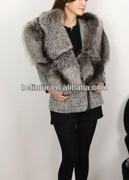 popular,big fox fur collar,fox fur shawl K055