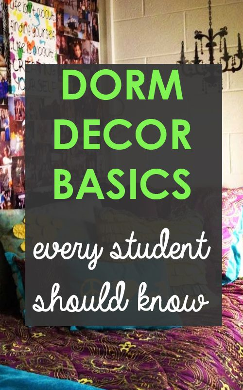 Dorm Decorating Basics Every College Student Needs To Know! And boarding student! I wish Pinterest would have more pins on boarding life!