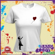 Banksy Balloon Girl Womens T shirt