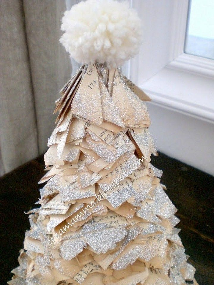 Diario di una Creamamma: Rotolo carta + libro + glitter = alberello di Natale!