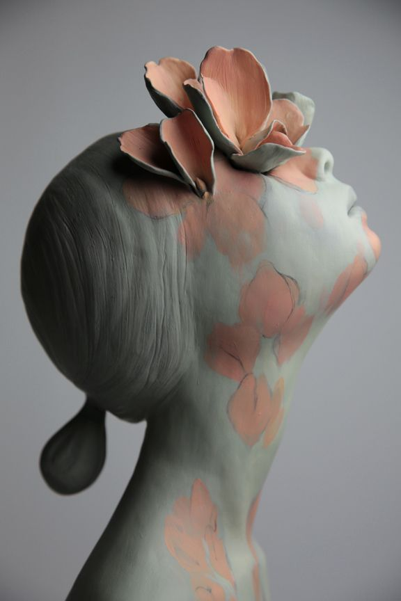 "Sculpture...Beautiful...Michela...OcéanoMar - Art Site : Gosia Sculptures ""GROW"" CERAMIC & PAINT 
