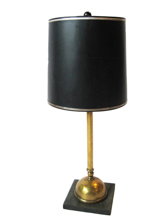 Brass lamp with black shade 2