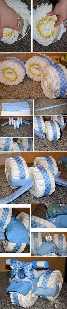 Tricycle Diaper Cake.