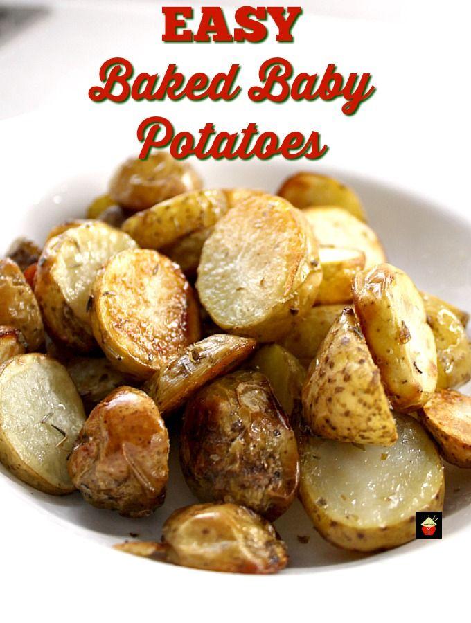 No Fuss Easy Oven Roasted Baby New Potatoes Recipe In 2020 Baked Baby Potatoes Side Dishes Easy Oven Roast
