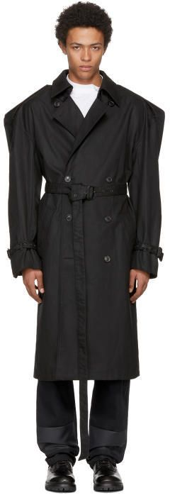 Y/Project Y-Project Black Trench Coat