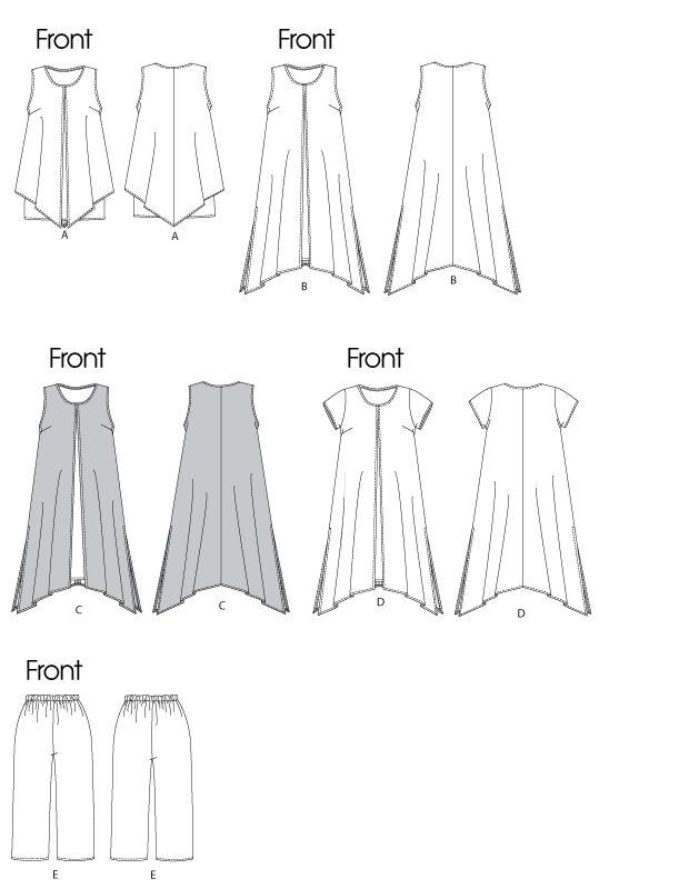 B5655 | Misses'/Women's Top, Dress and Pants | Dresses | Butterick Patterns