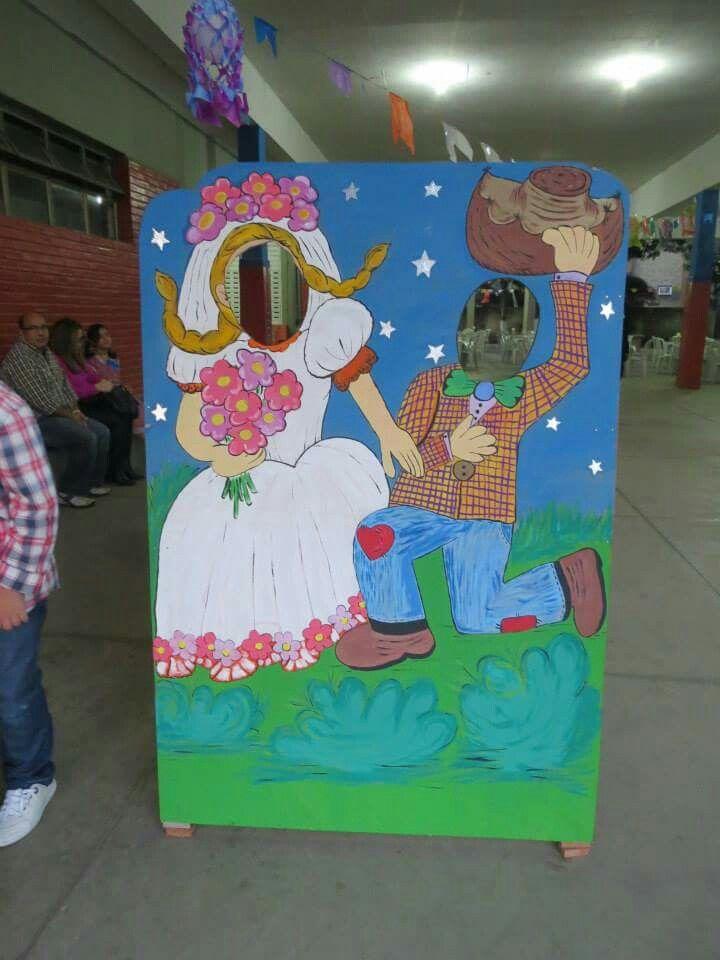 Painel para fotos casal junino