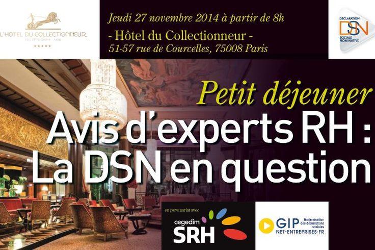 """Petit déjeuner """"Avis d'experts RH : la DSN en question"""""""
