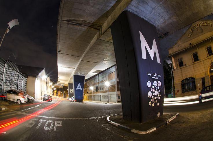 Maboneng Pillars by Night by Sherilea Gaspar on 500px