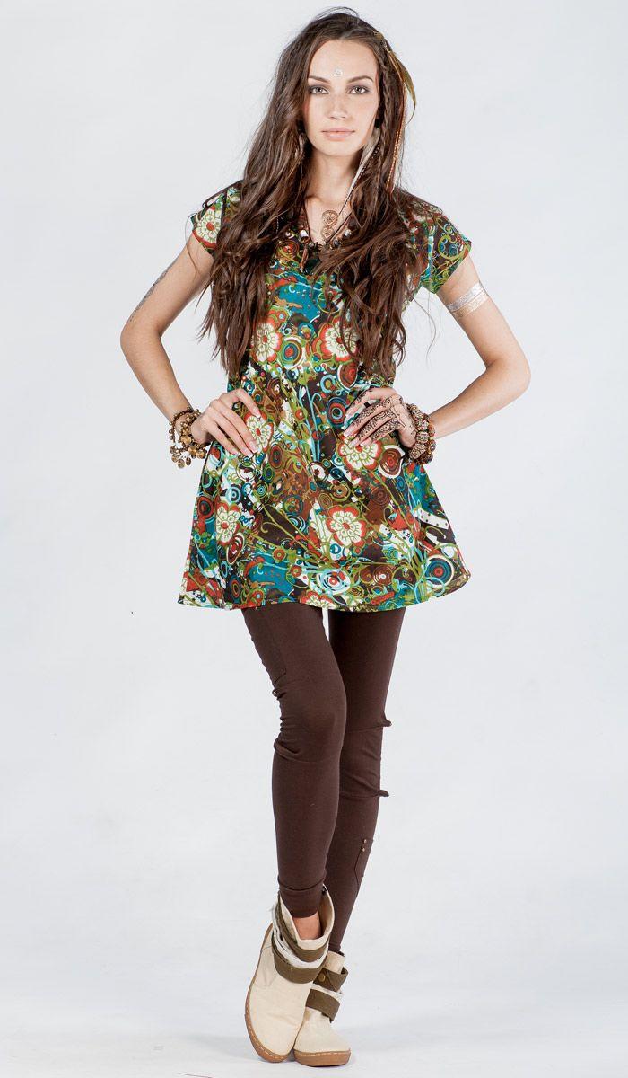 http://indiastyle.ru/products/plate-zelenaya-abstrakciya-4245 индийское платье-туника из хлопка, этническое платье, туника в стиле бохо, boho dress, dress bohemian style, indian print. 1180 рублей