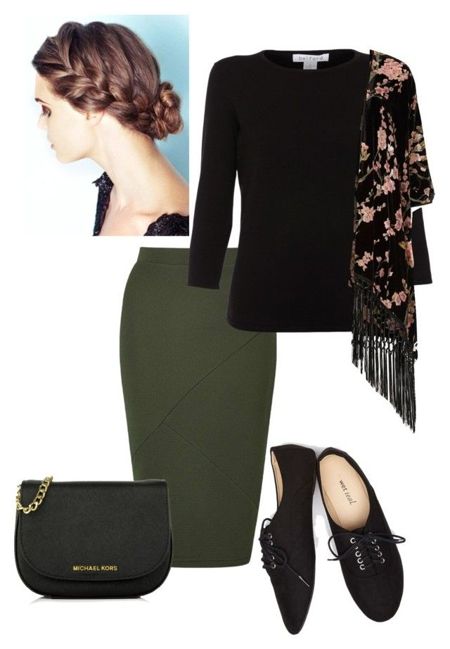 """""""green"""" by ohraee019 on Polyvore featuring Miss Selfridge, Belford, River Island, Wet Seal and MICHAEL Michael Kors"""