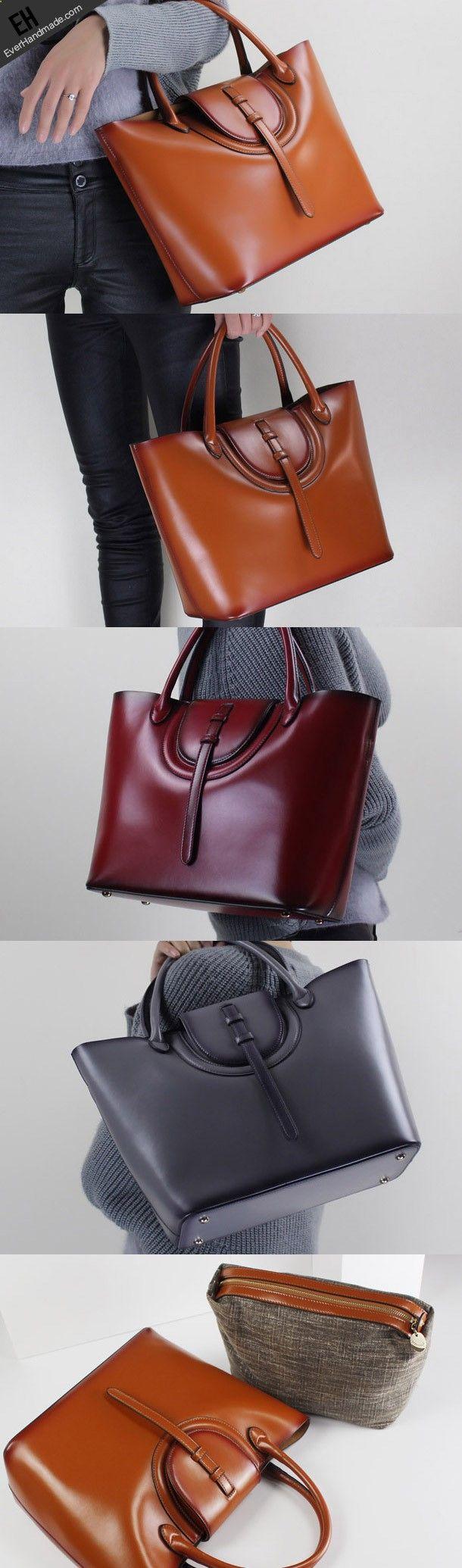 Leather handbag shoulder bag brown black Gray Red for women leather crossbody bag