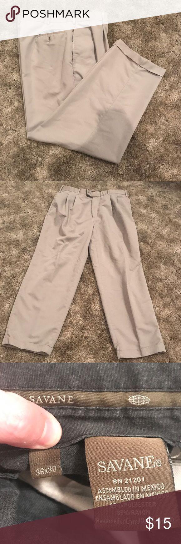 "Savane Khakis Gently worn!  Length 30"" 65% Polyester  35% Rayon Savane Pants Chinos & Khakis"