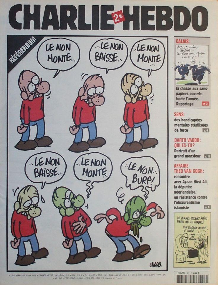Charlie Hebdo - # 674 - 18 Mai 2005 - Couverture : Charb