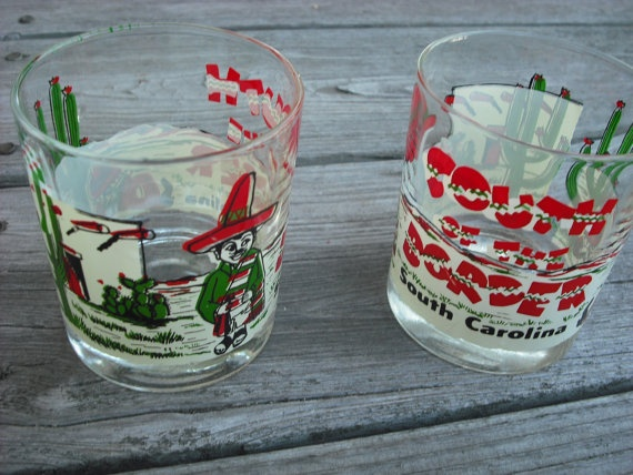 South of the Border glasses - $8.00  // awesome addition to family Mexican night.
