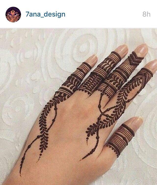 Tribal motif fingers