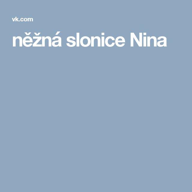 něžná slonice Nina