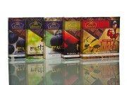 Marjaisissa suklaalevyissä käytetään kotimaista, kuivattua marjaa. Makuina mustikka, tyrni, puolukka ja mustaherukka. #frookynanherkku #kotimaisetherkut #suklaatila