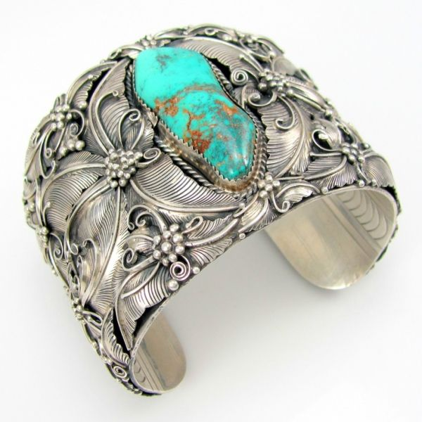 sterling silver & turquoise cuff by Gravity Graph