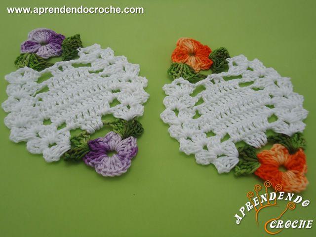 Porta Copos de Crochê Floratta - Decorações em Crochê - Aprendendo Croche