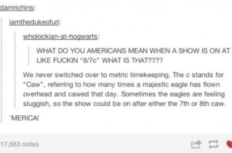 'Merica. I love all the tumblers with Americans screwing with foreigners.