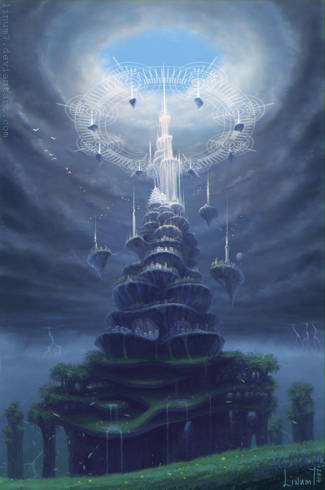 White tower by Linum7.deviantart.com on @DeviantArt