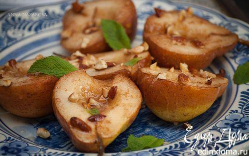 Запеченные груши с миндалем и корицей | Кулинарные рецепты от «Едим дома!»