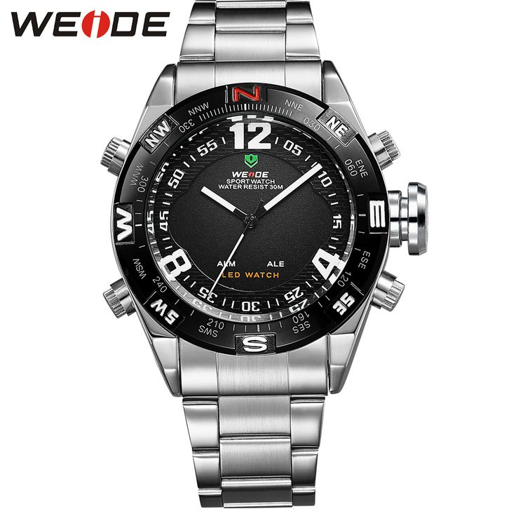 WEIDE Outdoor Sport Watch Waterproof LED Analog Quartz Back Light Alarm Auto Date Display Stainless Steel Wrist Watches For Men     Tag a friend who would love this!     FREE Shipping Worldwide     Get it here ---> https://shoppingafter.com/products/weide-outdoor-sport-watch-waterproof-led-analog-quartz-back-light-alarm-auto-date-display-stainless-steel-wrist-watches-for-men/