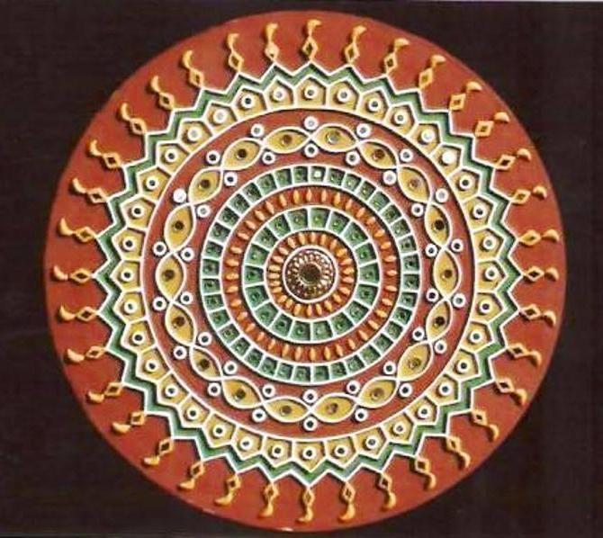 Indian Handicraft Supplier Mud Mirror