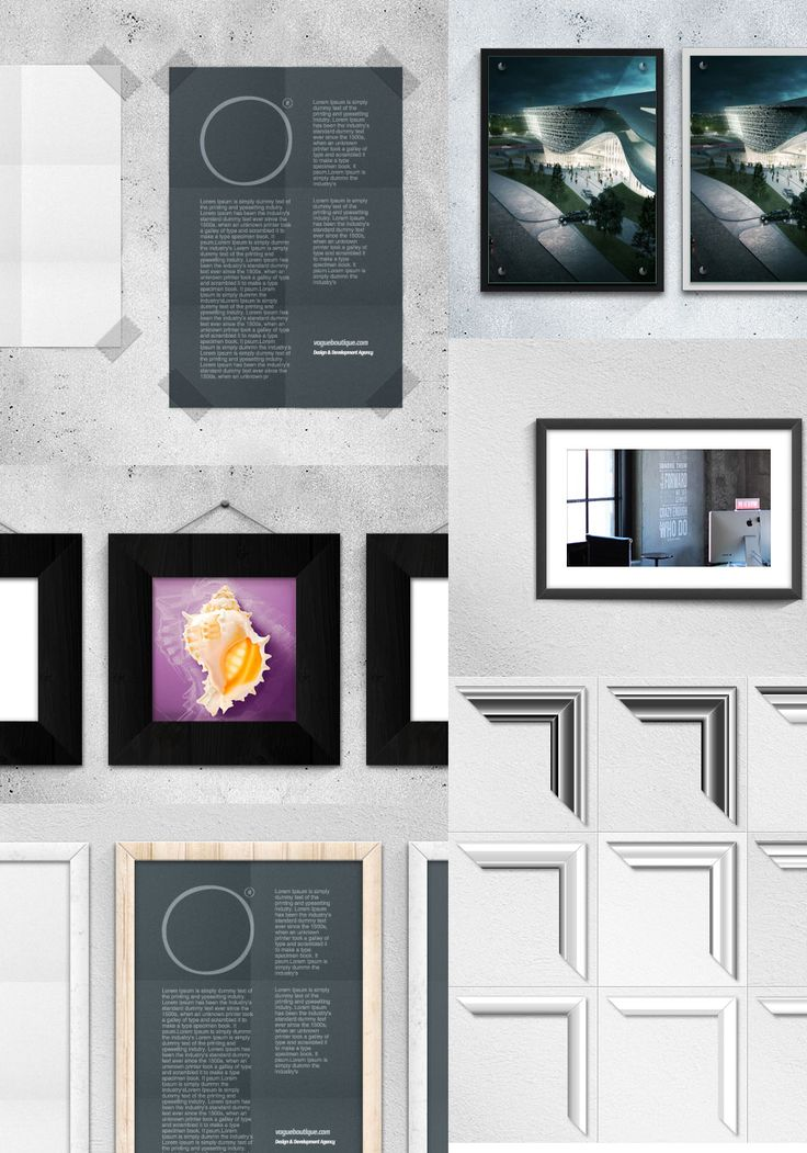 Free Poster Frame Mockups Psd Vector With 9 Different Styles Of Borders Are There To Apply Any The