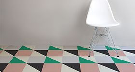 Love this. Cool vinyl floors in virtually any pattern you can imagine.