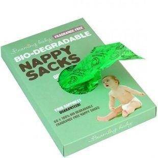 Worki na zużyte pieluszki Biodegradowale Bezzapachowe Beaming Baby 60 szt Toddlersi