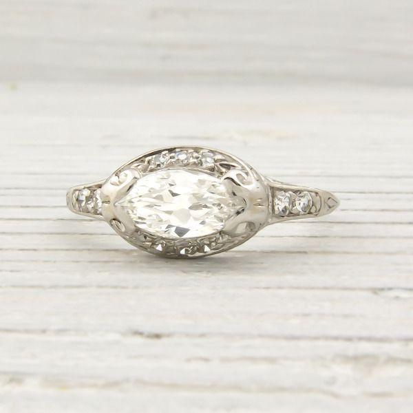 Nice east west marquise diamond ring setting Carat Vintage Marquise Diamond Engagement