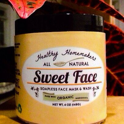 Sweet Face: Natural Face Mask and Wash on Etsy, $15.25