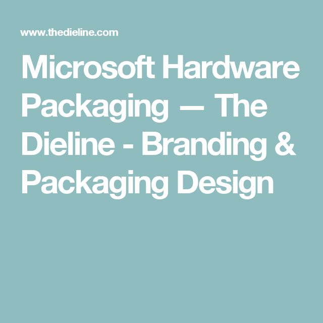 Microsoft Hardware Packaging — The Dieline - Branding & Packaging Design