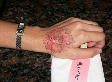 Fair Anemone Flower Tattoo On Hand
