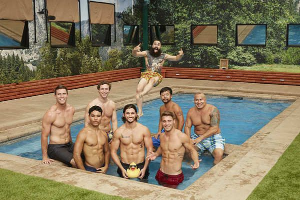 Big Brother 18 backyard picture of the men.