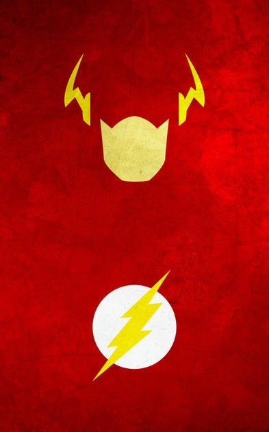 The Flash minimalist poster by thelincdesign.