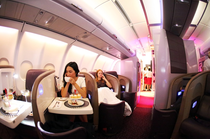 Virgin Atlantic, flying high in style. High tea