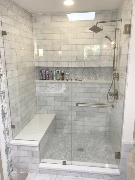 29 Unique Bathroom Tile Ideas That You Can Make At Home Restroom Remodel Bathroom Remodel Pictures Bathroom Remodel Designs