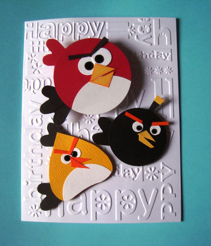 Angry Birds Birthday Card With Cuttlebug Birthday