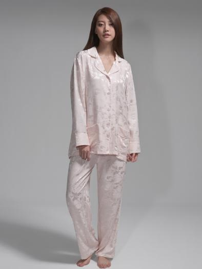 'Leaves' silk pyjamas
