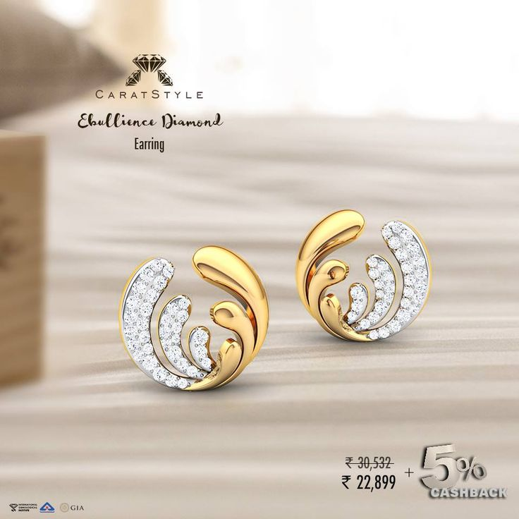 Order now to avail 25% discount and additional 5% #CASHBACK on these radiant #diamond #studs . #jewelry #gold #shopping #india #lifestyle #fashion