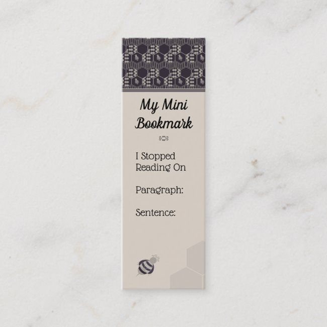 Honeycomb Bumble Bee Honeycomb Personalized Mini Business Card Striped Honeycomb Pattern Collection Pattern Bee Honeycomb Mini Business Card Honeycomb
