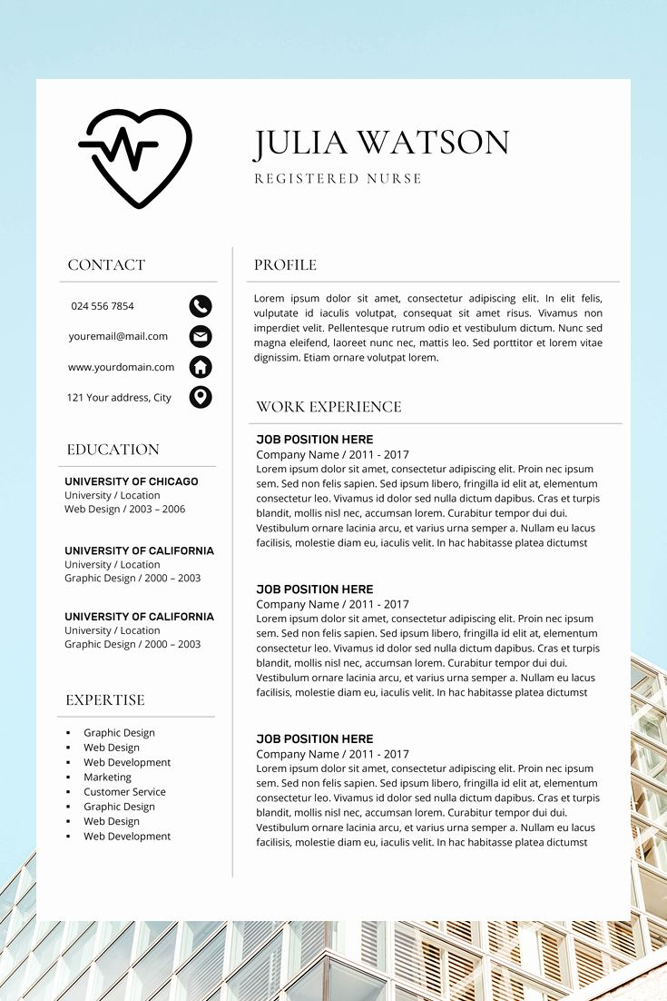 Medical Resume Template The Catherine In 2021 Medical Resume Template Medical Resume Nursing Resume