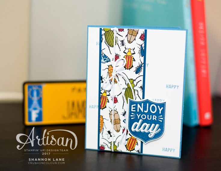 Beetles & Bugs pairs perfectly with mixed sentiments to make cards for any occasion! ~Shannon
