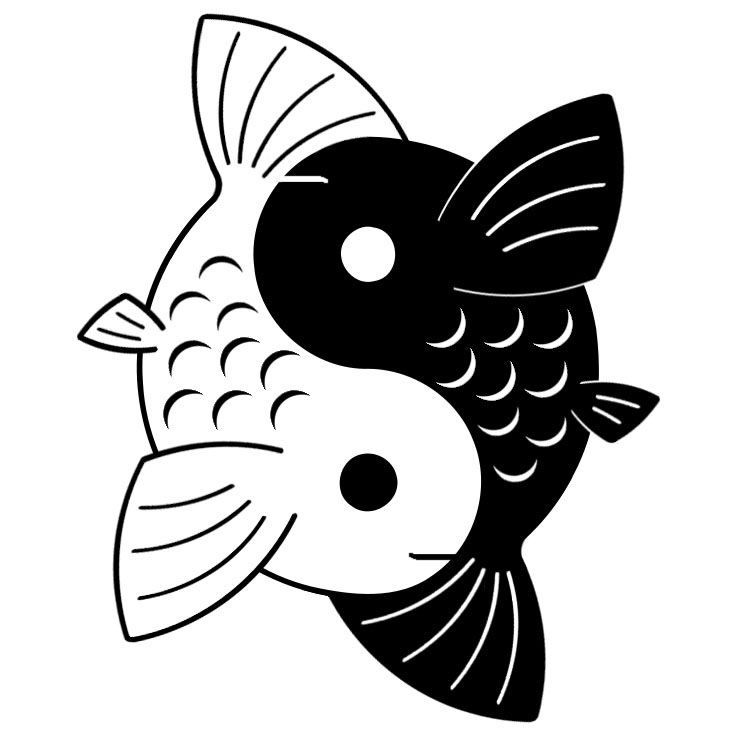 18 best koi yin yang images on pinterest drawings yin yang tattoos and yin and yang. Black Bedroom Furniture Sets. Home Design Ideas