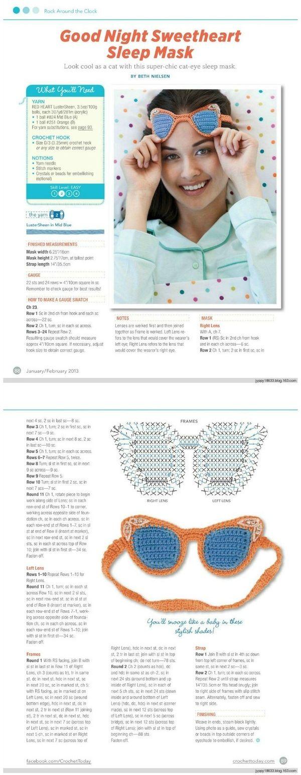 Good Night Sweetheart Sleep Mask crochet
